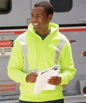 Bayside Hi-Visibility Full-Zip Hooded Fleece
