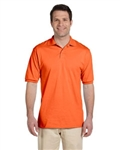 Jerzees custom embroidered 50/50 polo shirt. Blank or custom embroidered no minimum