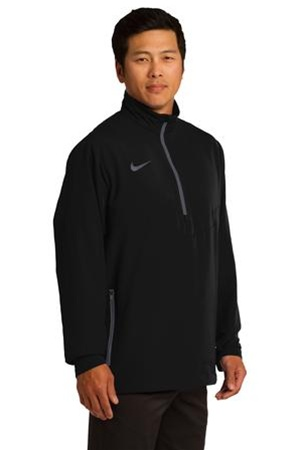 Embroidered 578675 nike golf 1 2 zip wind shirt for Embroidered nike golf shirts
