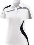 78645 North End Ladies Sport Performance Polyester PIque Color Blocking Polo