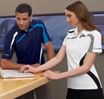 88645 North End Sport Performance Polyester PIque Color Blocking Polo