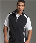 Custom embroidered 9529 Charles River Men's Axis Quarter Zip Vest