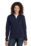 Custom Embroidered L224 Ladies Port Authority Microfleece Pullover