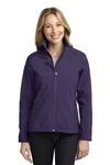 Custom Embroidered Ladies Welded Soft Shell Jacket