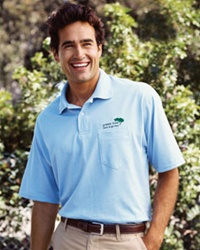 Hanes Custom Logo Polo Shirts, no minimum order, free logo setup, embroidery and screen printing