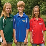 Custom embroidered, screen printed or blank youth moisture wicking polo. No minimums