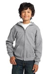 18600B Gildan Youth Heavy Blend Full-Zip Hooded Sweatshirt