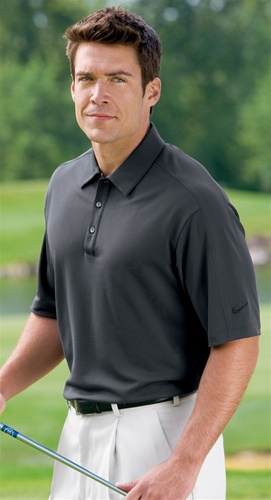 Nike 266998 golf tech sport dri fit polo shirt for Embroidered nike golf shirts