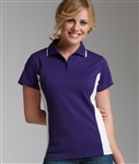 2810 Charles River Apparel Womens Color Blocked Wicking Polo