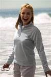 3186 Vantek Ladies Premium MicroFiber Quarter Zip Fleece