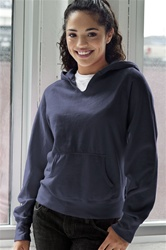 3276 Womens V-Notch Fleece Hoodie
