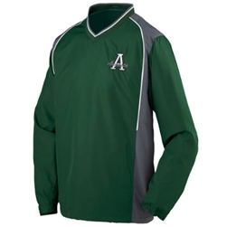 3745 Augusta Roar Diamond Tech V-Neck Windshirt