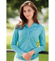 54300 Jockey Ladies Long Sleeve Stretch Jersey Polo
