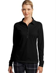 545322 Nike Golf Ladies Long Sleeve Dri-FIT Stretch Tech Polo