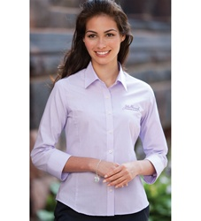 57130 Ladies 3/4-Sleeve Feather Stripe Shirt by Jockey