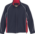 68007 North End Youth Woven Twill Athletic Jacket