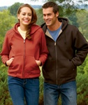 7033 Dri Duck Adult Crossfire Thermal Lined Fleece Sweatshirt Jacket