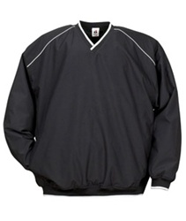7601 Badger Piped Microfiber Windshirt Pullover