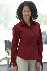 77014 LADIES' LONG SLEEVE SHIRT WITH TEFLON