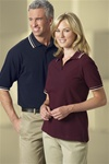85033 Ash City MEN'S PIQUE POLO WITH TEXTURED STRIPE TRIM