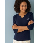 92000 Munsingwear Ladies Notched Collar Sweater