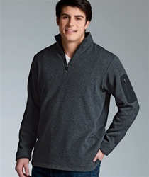 custom charles river heather fleece pullover 9312