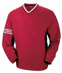 A147 Adidas ClimaLite Color Block V-Neck Windshirt