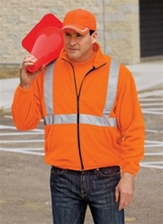 CS177 CornerStone Value Fleece Full-Zip Jacket with Reflective High Visibility Taping