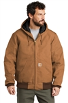 Customized Carhartt Quilted-Flannel-Lined Duck Active Jacket