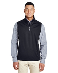 Ash City - Core 365 Men's Techno Lite Three-Layer Knit Tech-Shell Quarter-Zip Vest