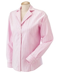 DP620W Devon and Jones Pink Multi-Stitch Poplin Blouse