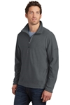 custom logo Eddie Bauer zip micro fleece jacket