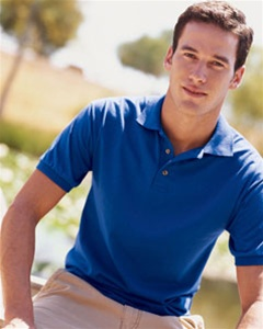 Embroidered polo shirts corporate casual attire logo for Custom embroidered polo shirts no minimum