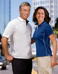 K467 Sport-Tek Dri-Mesh Sport Shirt with Tipped Collar and Piping