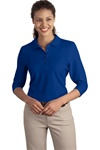 L562 Port Authority Ladies Silk Touch 3/4-Sleeve Sport Shirt