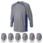 N3190 A4 Long Sleeve Performance Colorblock Tee Shirt