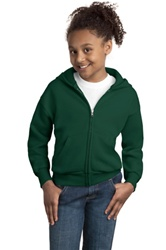 P480 Hanes Youth ComfortBlend Full-Zip Hooded Sweatshirt