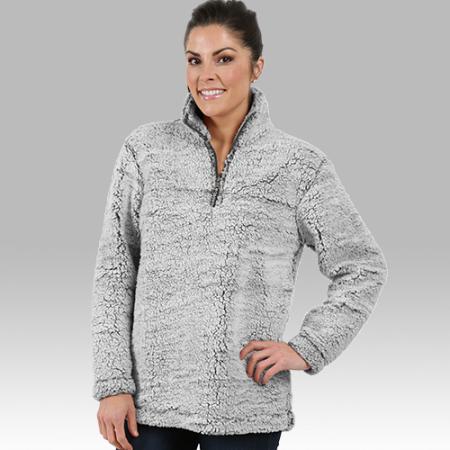 Half Zip Jacket Monogrammed Sherpa FleeceCoat Boxercraft Sherpa Pullover 3 Colors