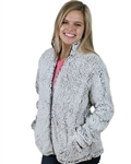 Boxercraft Ladies Frosty Grey Full Zip Sherpa