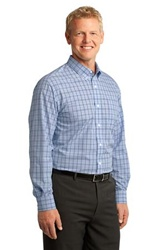 S641 Port Authority Crosshatch Plaid Easy Care Shirt